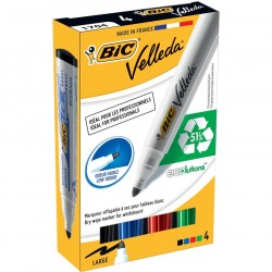 Set 4 marker whiteboard Bic Velleda