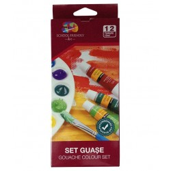 Set Guase 12/set 12ml School Friendly