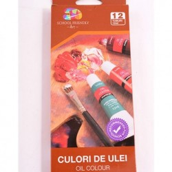 Culori ulei 12/set 12ml School Friendly