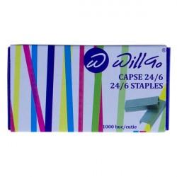 Capse 24/6 1000 buc/cutie Willgo