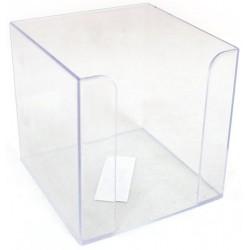 Suport plastic pentru cub hartie , 90x90mm, Flaro