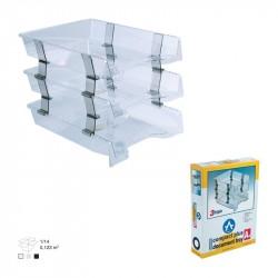 Tavite plastic suprapozabile fixe 3/set cu distantier Ark