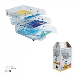 Tavite plastic suprapozabile culisante 3/set cu distantier Ark