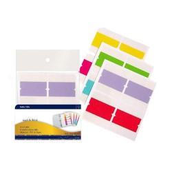 Stick index plastic cu margine color 10 x 30 mm