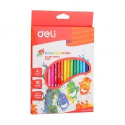 Creioane colorate 18 culori Deli Emotion