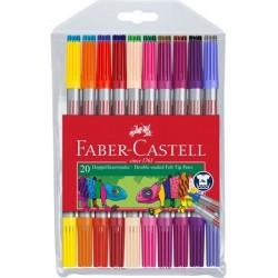 Carioca 20 culori, 2 capete Faber-Castell