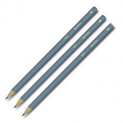 Creion Grafit HB cu guma lemn negru Auriu&Argintiu Adel