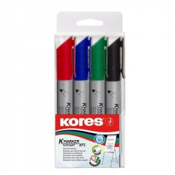 Set 4 Markere 3mm flipchart Kores