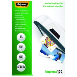 Folie laminat A5, 100 microni Fellowes