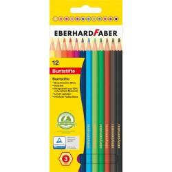 Creioane colorate plastic 12 culori Eberhard Faber