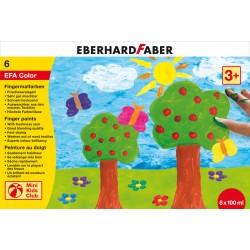 Set pictura cu degetele 6 culori 100ml Eberhard Faber