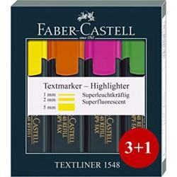 Set 3+1 textmarker 1548 Faber-Castell