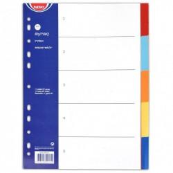 Separatoare plastic 5 culori A4 Noki
