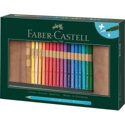 Rollup 27 Creioane Colorate Aquarelle Goldfaber si Accesorii Faber-Castell
