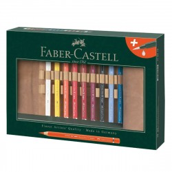 Rollup 18 Creioane Colorate A.Durer Magnus si Accesorii Faber-Castell
