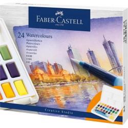 Acuarele 24 culori Creative Studio Faber-Castell