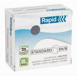 Capse 24/6 5000buc/cutie Rapid Standard
