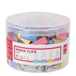Clips hartie color 25mm 48 buc/cutie plastic Deli