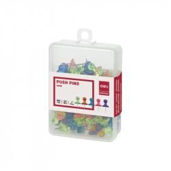 Pioneze panou pluta culori translucide 100buc/cutie Deli