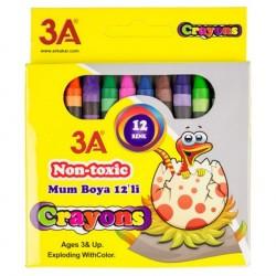 Creioane cerate 12 culori/set