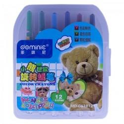 Creioane cerate retractabile 12 culori