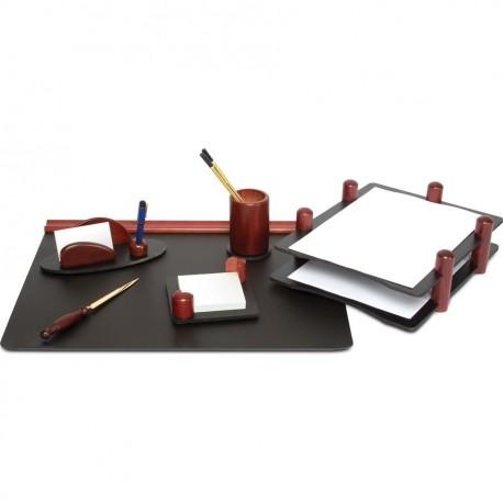 Set de birou din lemn 6 piese Mahon