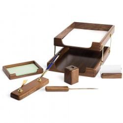 Set de birou din lemn de stejar 6 piese Forpus