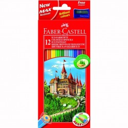 Creioane colorate 12 culori Eco Faber-Castell