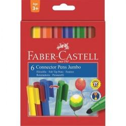 Carioca 6 culori Jumbo Faber-Castell