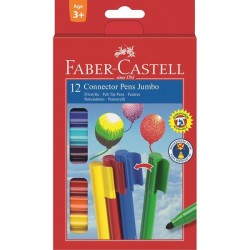 Carioca 12 culori Connector Jumbo Faber-Castell