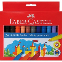 Carioca 24 culori Jumbo Faber-Castell