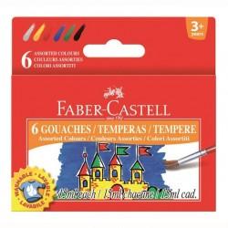Guase 6 culori Faber-Castell