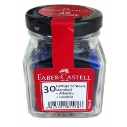 Cartuse cerneala mici albastre borcan Faber-Castell