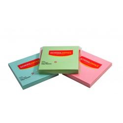 Notes autoadeziv 76x76mm, 100 file/set pastel