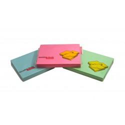 Notes autoadeziv 76x101mm, 100 file/set pastel