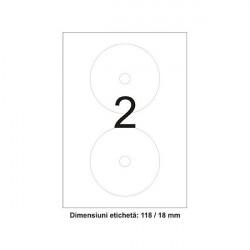 Etichete autoadezive rotunde pentru CD
