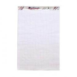 Rezerva hârtie pentru flipchart 50coli/top 90g/mp Optima