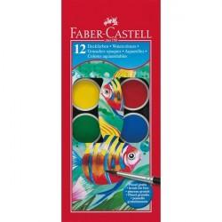 Acuarele 12 culori Faber-Castell