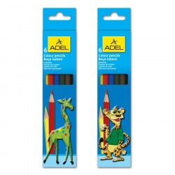 Creioane colorate 6 culori Adel
