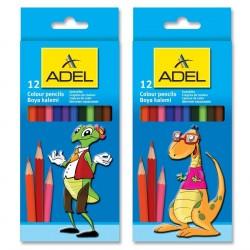 Creioane colorate 12 culori Adel