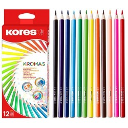 Creioane colorate 12 culori triunghiulare Eco Kores