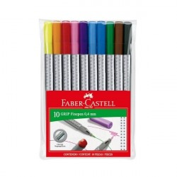 Liner 0.4mm 10 culori/set Grip Faber-Castell