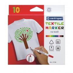 Marker textile 10 culori Centropen 2739