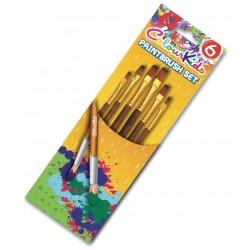 Pensule scolare 6/set vf tesit Colour Kids Pigna