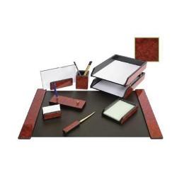 Set de birou din lemn mahon 8 piese Forpus