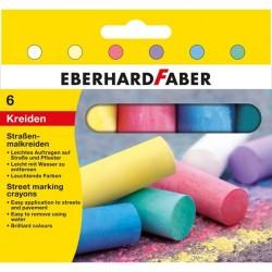 Creta 6 culori desen asfalt Eberhard Faber