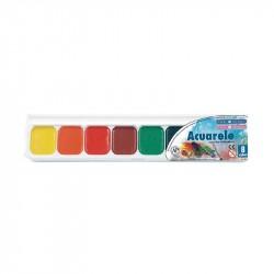 Acuarele semiuscate 8 culori Pigna