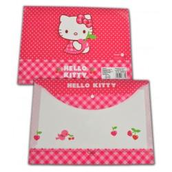 Mapa plastic cu buton Hello Kitty