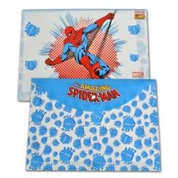 Mapa plastic cu buton Spiderman