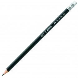 Creion grafit HB cu guma 1112 Faber Castell
